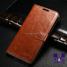 Fashion book style leather flip phone cover case for samsung galaxy j5 j7 with back cover