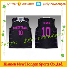 fashion style basketball top, custom basketball jerseys with your own logos