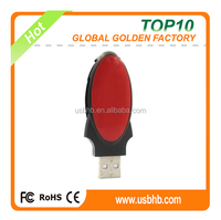 2015 novelties promotional 64GB usb flash, red oval shape usb flash drive