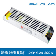Output DC 24V 4.2A 100W China Supplier Mini Size Linear Switching Power Supply for CCTV Camera