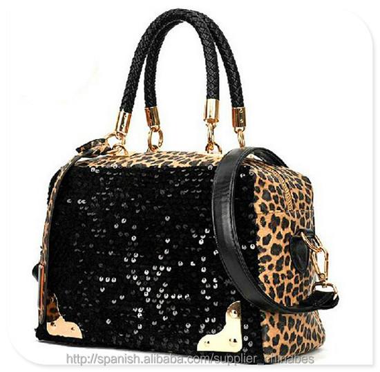 2014 venta caliente marca bolso de mujer de color elegante impresión bolsos de imitación de venta