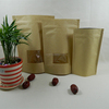 Goji Berry kraft paper packing bag with see thru window front