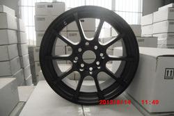 Black Alloy Wheel with Blue Ring SIZE 15X6.5jj H/PCD 5X114.3 ET 25