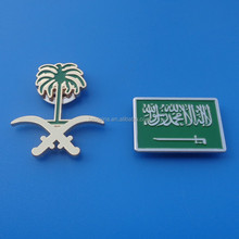 Soft enamel stamped lapel pin with magnet back collar pin brooch pin Saudi Arabia National Day items