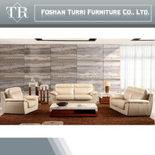 modern Italian top grain white leather lazy sofa for living room furniture