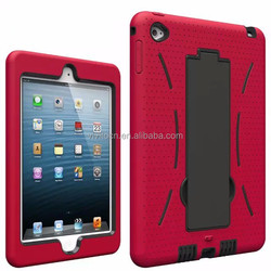 High quality pc+ tpu armor waterproof stand case cover for ipad mini 4