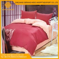 China top quality household home bedding set, woven fabric bed sheet with pillowcase manufacturer