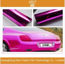 Self Adhesive Popular Car Wrappings Chromed Vinyl Mirror finish Chrome sticker to wrap