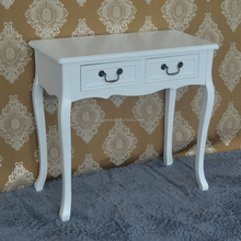 European style home furnitue dress table with cushion stool antique dresser furniture
