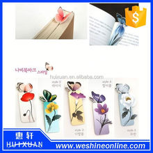 2015 Beautiful Butterfly Paper Bookmarks / Korean Stationery Bookmarks for Promotion Gift