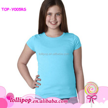 Wholesale Blank T Shirt 2015 Baby Girls Summer Cotton Plain T Shirt