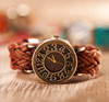 Fashion explosion Braided leather hollow retro header bracelet watch,lady watches wholesale(SWTNSXR1206)