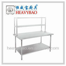 Stainless Steel Work Table with Top Shelf