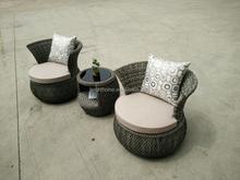 Man-made Fibre Wicker Chair/Aluminum Rotatable Chair/Gardern Outdoor sofa set (BP-232R)