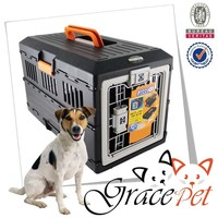 IATA plastic animal carrier / dog travel carrier