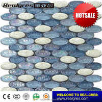 China supplier unique blue swimming pool mosaic tiles
