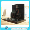 L shape elegant black acrylic jewelry holder high quality MDF display display durable necklace holder rack logo silk-screening