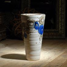 2015 Antique Cup Shape Art Painting Ceramic Vase White For Home Decoration