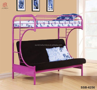 Cheap Living Room Heay Duty White Black Blue Red Metal Sofa Bunk Bed