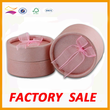 Office printed fancy paper magnetic round jewellery gift box