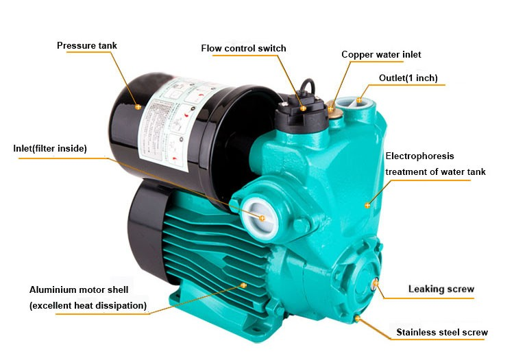 Mini Electric Domestic Shower Booster Water Pump With Flow Sensor ...