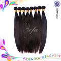 Pelo picante 100% virginal del pelo humano de la virgen brasileña onda recta, natural del pelo recto