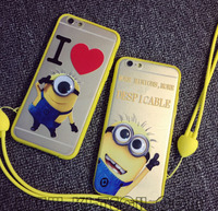 mobile accessories phone case custom minion case for iphone 6 6s 6plus 5 5s ACRYL SILICONE RUBBER phone case