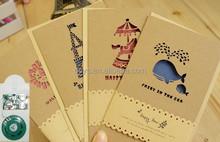 Custom laser cut wedding invitations,handmade greeting cards