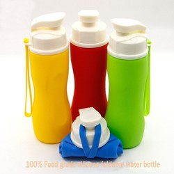 2015 summer hot sale BPA free collapsible water bottles Sports plastic foldable water bottle
