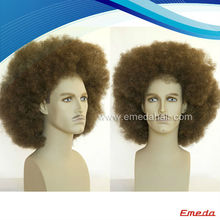 2014 china supplier fashion synthetic hair human wigs products men short curly wigs