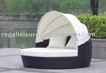 sell rattan/wicker sun day bed/ lounger with canopy RLF-003A