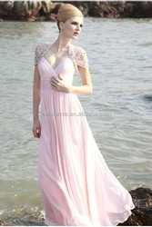 e100 vintage pink lovely dress with chiffon evening dress with lace jacket k empire pink evening dress