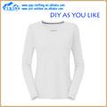 Nombre de marca a granel de algodón liso v- cuello camisetas blancas