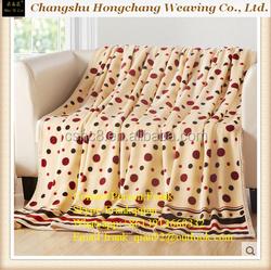 super soft printing flannel blanket polyester blanket wholesale milk dot design
