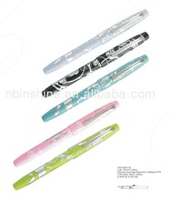 Fashion pattern school multi color plastic fountain pen
