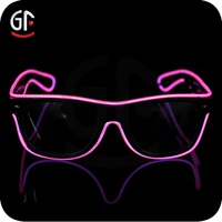 China Novelties Factory Imitation Custom Full Frame EL Wire Party Glasses with Eyes For Party Decoration