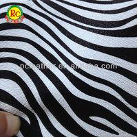 imitation leather printed pu zebra leather faux zebra synthetic leather