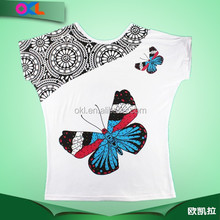 Ningbo children clothes factory cotton girls tshirt