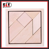 Wooden toy wooden tangram puzzle tangram for kids