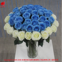 China blue rosas venta al por mayor proveedores de boda barato flor artificial