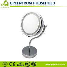8 inch double sides CZ diamond shining led table cosmetic mirror