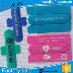 funny cell phone holder for desk,silicone holder for mobile phone,back stick card holder