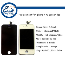 original mobile phone for iphone 4s lcd with glass, for iphone 4s lcd original screen, for iphone 4