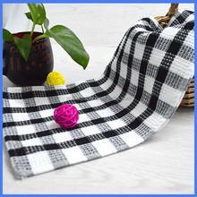 Black and white wholesale cotton tea towels bulk