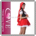 2015 alta calidad adulto disfraz de halloween little red riding hood de vestuario
