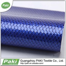2015 glossy snake design pu synthetic leather for sofa