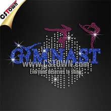 Gymnast Glitter Iron on Rhinestone Transfer Accessories for Clothes