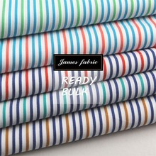 100% Cotton Spring/Summer Shirting & Dress Fabric, Colorful Carbon Peached Stripe/Check/Plaid Fabric