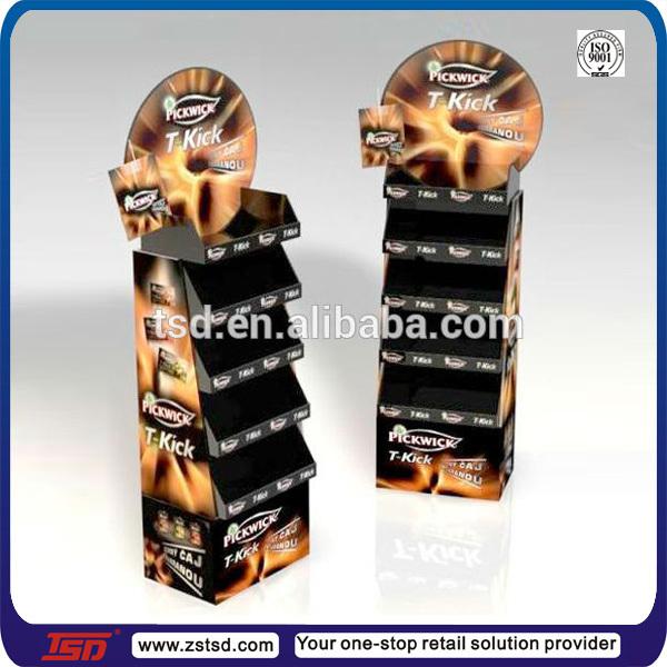 Tsdc40 Retail Store Floor Pos Tea Bag Cardboard Display Tea Bag Delectable Tea Set Display Stand For Sale