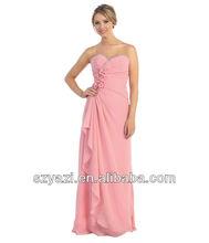 Baratos del amor rosados largos vestidos del club flores k408